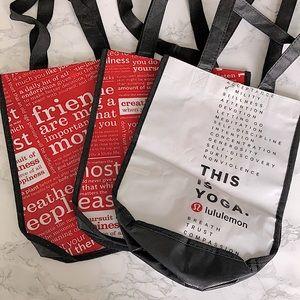 Lululemon small reusable shopping bags